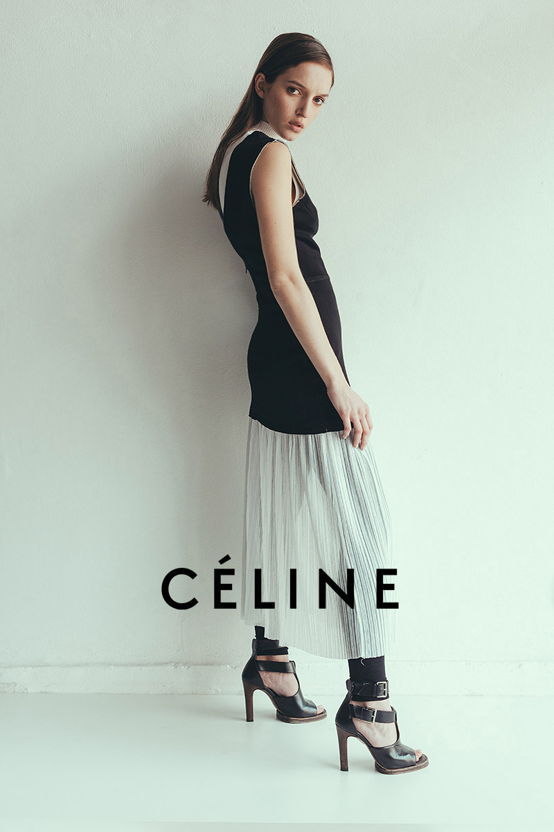 Celine campaign vintage look French stiletto heels by Alex Kipenko
