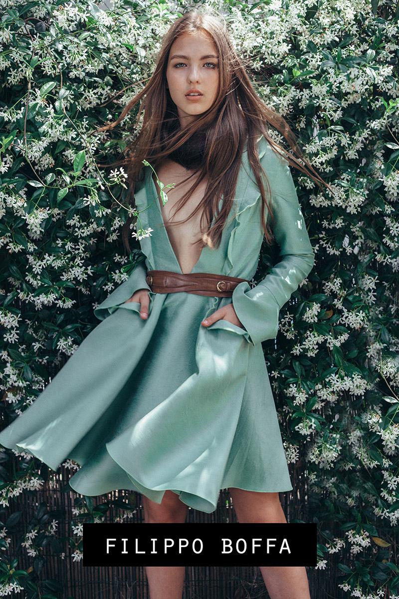Filippo Boffa floral fashion promo campaign shooted beauty look at Photo7it veranda studio