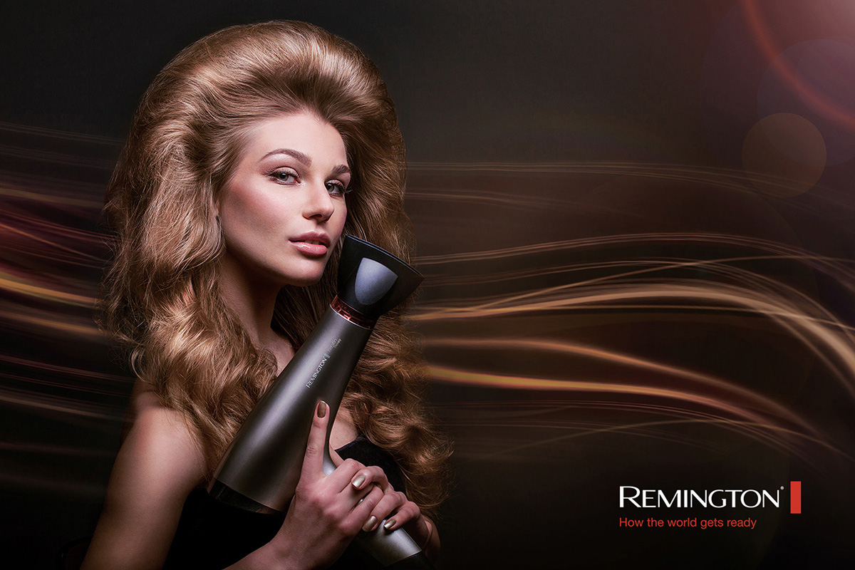 Remington hairdryer campaign by kipenkocom