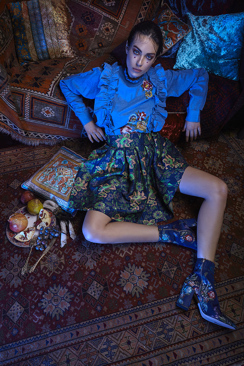 Editorial story Natalia Rodrigez wears Dolce and Gabbana by Alex Kipenko
