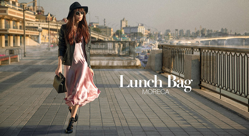 Lunch Bag Matt - by Moreca Atelier campaign shoot by Alex Kipenko, how to shooting at sunrise give rose colors and incredible cool